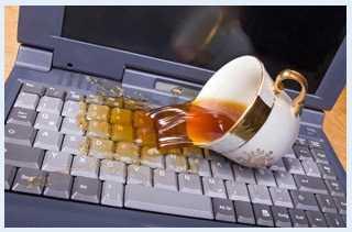 Попадание жидкости в компьютер