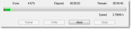 Процесс записи образа на флешку