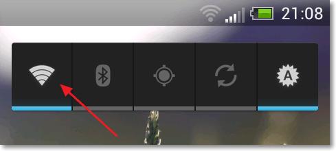 Виджет для включения Wi-Fi