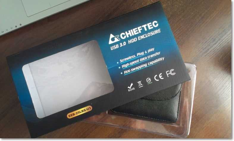 Карман Chieftec для HDD 2.5 в коробке