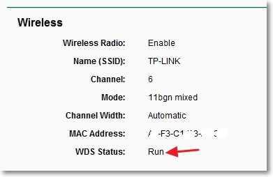 WDS Status