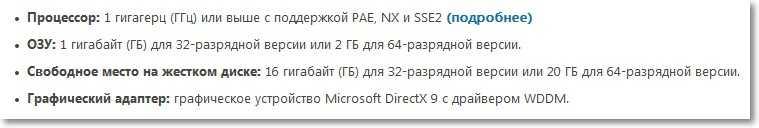 Системные требования для Windows 8