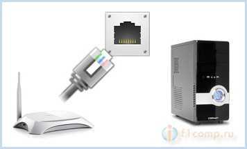 Соединяем компьютер с маршрутизатором сетевым кабелем