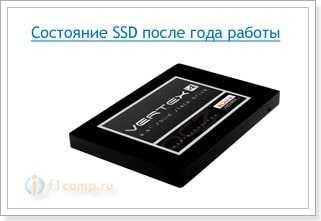 Состояние SSD накопителя спустя год после установки