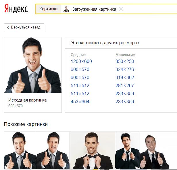 Поиск по фотографии в Яндексе.