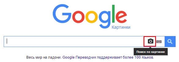 Поиск изображения в Гугл.