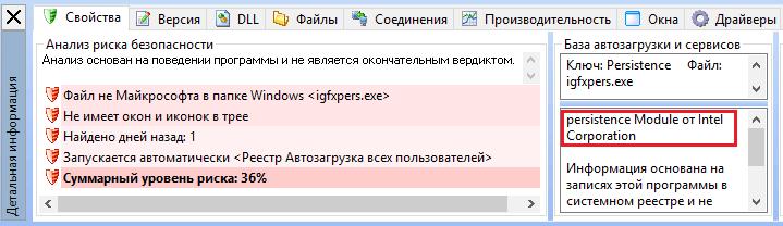 Свойства файла в AnVir Task Manager.