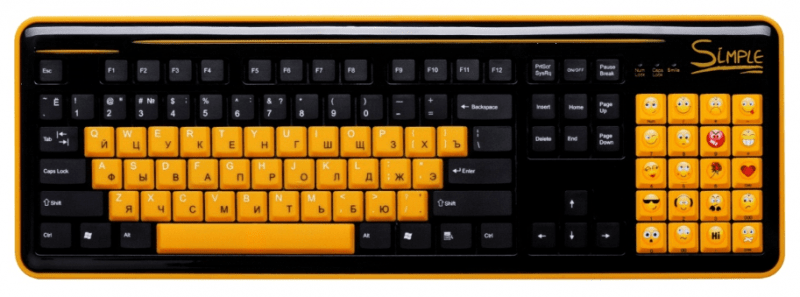 Эмоциональная клавиатура Simple S8.