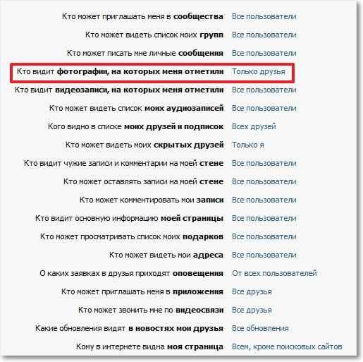Как скрыть фотографии в Контакте