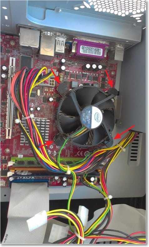 Снимаем радиатор с процессора