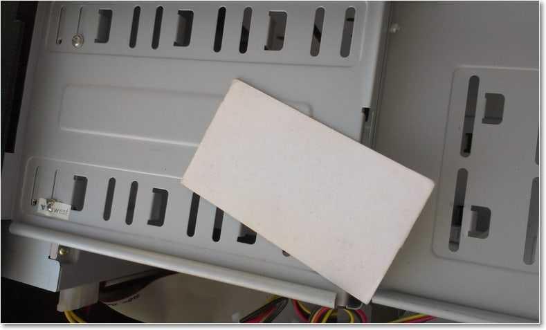 карточка для размазывания термопасты