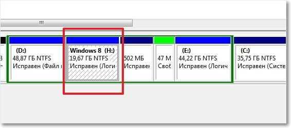 Новый локальный диск созданный из-под Windows 7