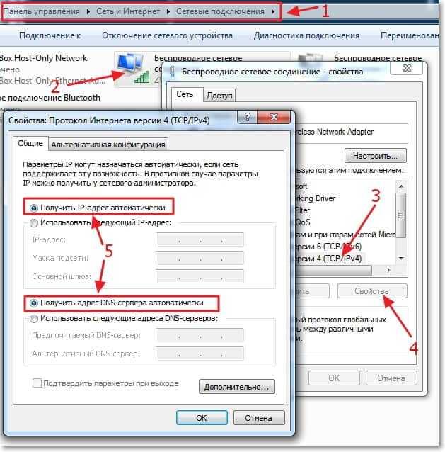 получать IP-адрес и DNS автоматически
