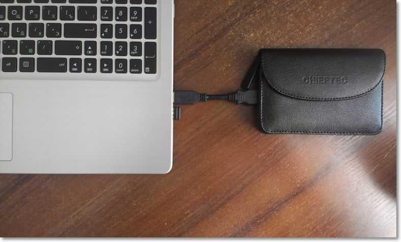 Внешний жесткий диск в кармане Chieftec External