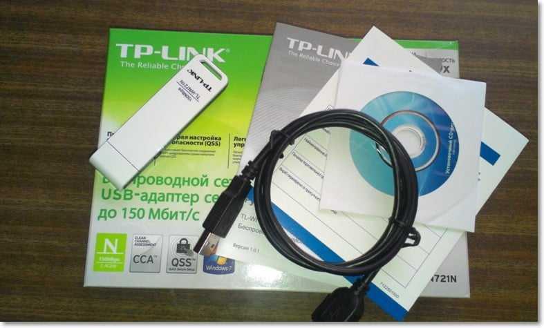 Комплектация TL-WN721N