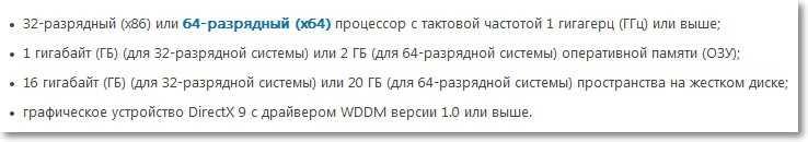 Минимальные системные требования для Windows 7