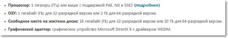 Системные требования для Windows 8