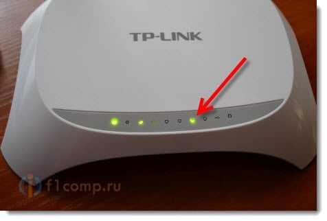 Индикатор подключения сетевого кабеля
