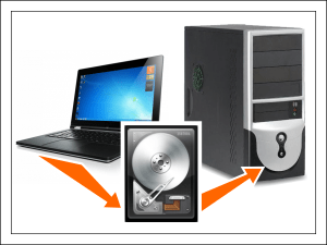 Как подключить жесткий диск от ноутбука к компьютеру.