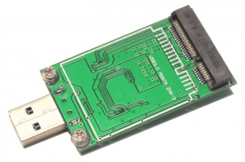 Адаптер mSATA-USB.