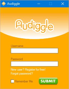Регистрация в audiggle.