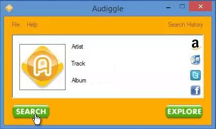 Распознавание музыки в Audiggle.