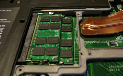 Оперативная память в ноутбуке.