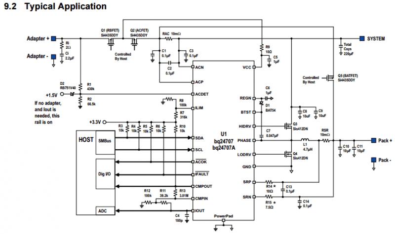 Детальная типовая схема подключения чарджера.