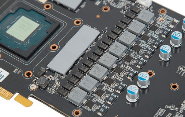 Фазы питания GPU и памяти видеокарты.