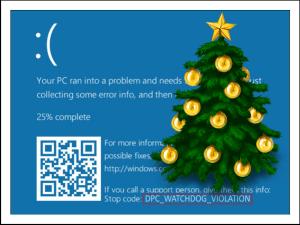 Синий экран смерти DPC WATCHDOG VIOLATION.