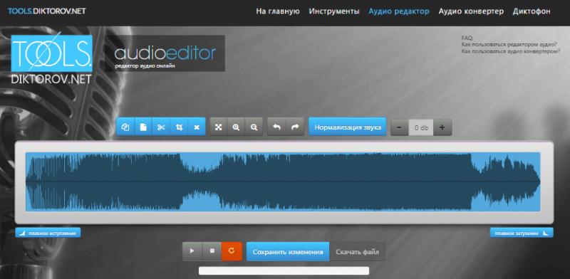 Dictorov.net Audioeditor.