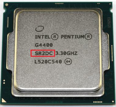 sSpec Number процессора Intel.
