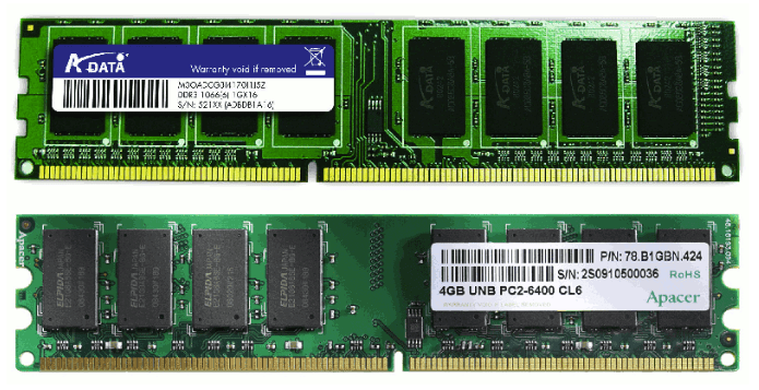Память DDR2 и DDR3.