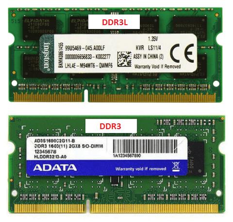Память DDR3 и DDR3L для ноутбука.