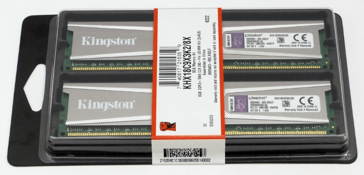 Оперативная память в наборе.