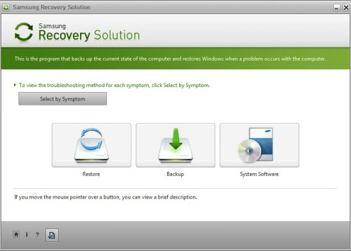 Samsung Recovery Solution.