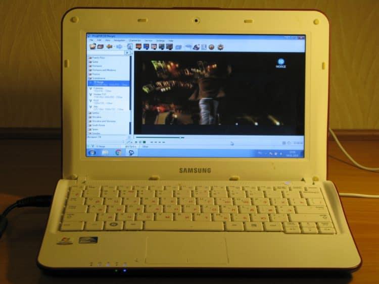 Samsung NF110 - тестовый компьютер для обзора бесплатных программ для просмотра ТВ на ПК