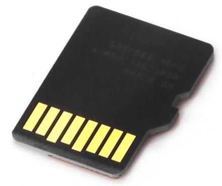 Контакты карты памяти.