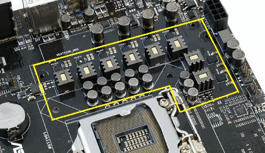 Регулятор напряжения питания процессора.