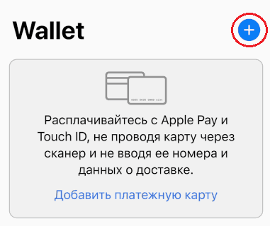 Настройка Apple Pay на айфоне.