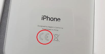 Маркировка CE на смартфоне.