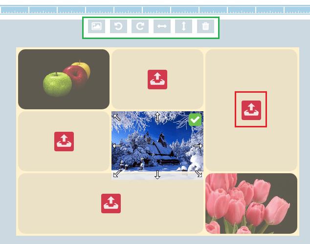 Размещение фото на холсте в My Collages.
