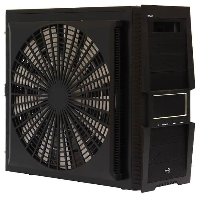 Корпус ПК с боковым вентилятором.