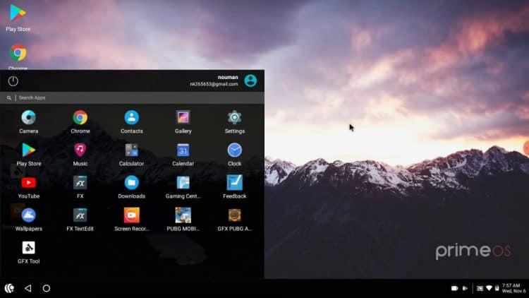PrimeOS - скачать полноценный эмулятор Андроид